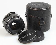 ASAHI PENTAX TAKUMAR 28MM F 3.5 W/ FRONT AND REAR CAPS AND CASE