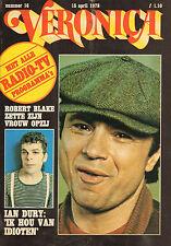 VERONICA 1978 nr. 16 - IAN DURY / BARETTA (ROBERT BLAKE) / HERMAN KUIPHOF/TOP 40