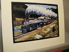 Union Pacific Portland Rose  Artist Illustrated  Color Railroad Archives HH