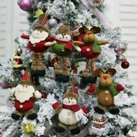 Christmas Santa Claus Snowman Doll Toys Xmas Tree Hanging Ornament Party Decor