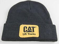 CAT CATERPILLAR BLACK FORK TRUCK LIFT KNIT CAP BEANIE STOCKING SKULL LOGO HAT
