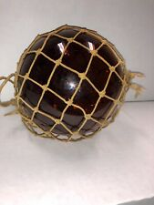 Vintage Glass Fishing Float - Beautiful Amber Color