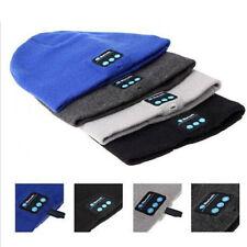 Soft Warm Beanie Hat Wireless Bluetooth Smart Cap Headset Headphone Speaker BLUE