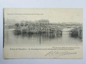 Ex80 - 1905 LIEGE Belgium Exposition Exhibition - Le Pont Postcard
