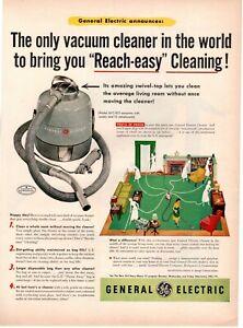 1953 ORIGINAL VINTAGE GE GENERAL ELECTRIC VACUUM CLEANER MAGAZINE AD