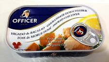 Bornholms Officer Smoked Cod Liver 120g From Denmark Higado De Bacalao