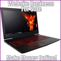 Fully Stocked LAPTOPS Website Business|FREE Domain|FREE Hosting|FREE Traffic