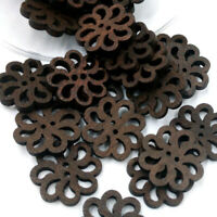 40pcs/lot PRO Flower Cute Wooden Buttons Sewing Craft NEW 20MM Button A9S7