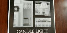 NEW Heritage Lace CANDLE LIGHT 60 x 22 4-Way swag curtain mantle scarf Pearl
