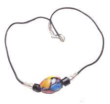 Resina de diseño inspirado en Multicolor Hippy Negro Perla Collar Gargantilla/(Zx62)