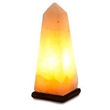 Natural Crystal Himalayan Salt Lamp Pyramid Obelisk Ionic Light Air Purifying .