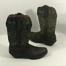 Justin Womens Cowboy Boots 8 Square Toe Soft Leather