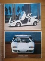 CPA Ancienne - Lamborghini Countach - Automobile - Brad Wagner - années 80