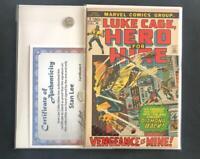LUKE CAGE #2 SIGNED STAN LEE W/COA HERO FOR HIRE DEFENDERS 1 DIAMOND BACK APP