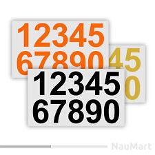 Número de pegatinas de vinilo (#ST060)