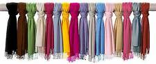 PASHMINA SILK SHAWL SCARF SARONG WRAP HEADSCARF HIJAB LADIES GIRLS STOLE COLOURS