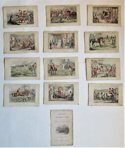 Set of 12 antique prints, Mr Sponge's Sporting Tour, 1853, John Leech, hunting