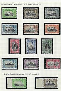 St Lucia SG 113s-124s+113sa, 114sa MNH FINE SVERY FINE SPECIMEN VERY SCARCE