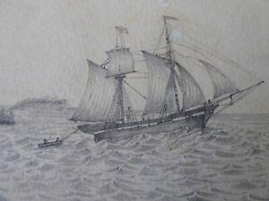 ANTIQUE 1860/1861 COMMONPLACE/SKETCH BOOK(CARRICKFERGUS ANTRIM BY CHP) SCRAPS M2