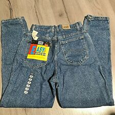 "Vintage 80s Lee High Waist Denim Mom Jeans Easy Rider 27"" x 30.25"" Junior 9 NOS"