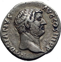 HADRIAN 134AD Rome Authentic Ancient Genuine Silver Roman Coin Victory  i63913