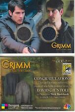 Grimm - Breygent San Diego 2014 SDCC GCC-2 Dual Costume Card worn by Nick