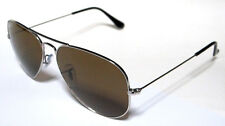 RAY BAN 3025 55 AVIATOR SILVER POLARIZZATO BROWN POLARIZED PERSONALIZZATO REMIX