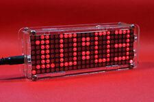 Dot Matrix Clock digital display electronic Alarm clock time led Temperature  R
