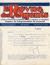 LE REVUE DES AGENTS DU CYCLE DE LA MOTOCYCLETTE DE L'AUTOMOBILE PARIS 1932