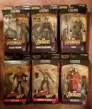 CULL OBSIDIAN MARVEL LEGENDS SET OF 6 THOR ANTMAN WASP BLACK WIDOW BLACK KNIGHT
