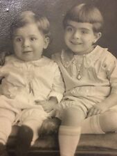 VINTAGE AZO REAL PHOTO POSTCARD LITTLE GIRLS. CHICAGO, IL