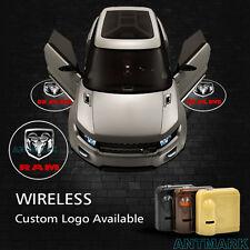 Wireless Car Door Step Led Laser Projector Logo Ghost Shadow Light For Dodge Ram