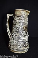 Vintage Ceramic German Beer Stein / Pitcher # 1493 by Gerz
