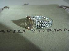 DAVID YURMAN AUTHENTIC PETIT WHEATON  MORGANITE DIAMOND RING SIZE 7  DY.POUCH