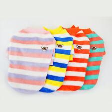 Cute Pet Dog Clothes Rainbow Fleece Stripe Shirt Summer Puppy Short Sleeve Vest