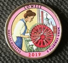 2019 P COLORIZED LOWELL (MASSACHUSETTS) AMERICA THE BEAUTIFUL QUARTER