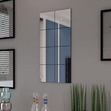 vidaXL 8 Stk. Quadratisch Spiegel Fliesen Wand Sticker Aufkleber Mosaik Deko DIY
