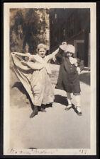 MINUET DANCE 17th CENTURY COSTUME GIRL FUNNY POSE ~ 1917 VINTAGE PHOTO