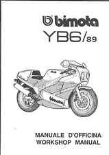 COPIA MANUALE OFFICINA BIMOTA YB6 ' 89 WORKSHOP MANUAL COPY ( ITA - ENG )