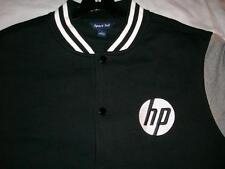 Hewlett Packard HP Black Gray Varsity Jacket Sport Tek Men's large used