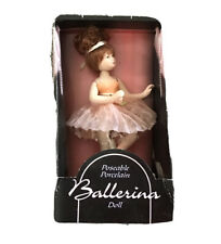 """6"""" Poseable Porcelain Ballerina Doll With Stand & Original Box"""