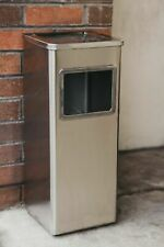 More details for standing litter rubbish bin cigarette smoking ash tray outdoor stainless steel