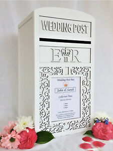 Personalised Royal Mail Wedding Card Post Box - Locking / Lockable Postbox