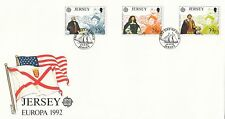 (42954) GB Jersey Discovery of America EUROPA - 14 April 1992