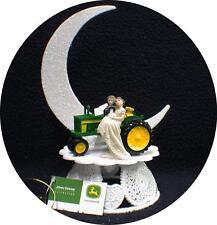 Country Western John DEERE Tractor Wedding Cake Topper Farmer Barn Theme
