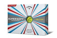 2018 CALLAWAY SUPERSOFT GOLF BALLS - WHITE OR YELLOW DOZ. PACK - NEW