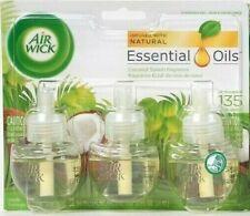 1 Air Wick 2.02 Oz Natural Essential Oil Coconut Splash 3 Ct Scented Oil Refills