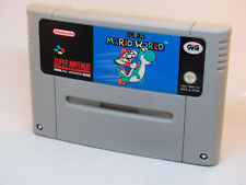 Super Nintendo • SUPER MARIO WORLD GIG ITA PAL SNES Solo Cartuccia