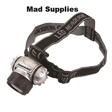 Silverline 868718 6 LED Krypton Head Light Lamp Fishing Camping Cycling Torch