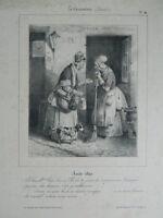 Hippolyte Bellange Lito Caricatura N º 14 Davis,Aubert 1830